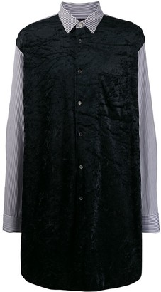 Comme des Garcons Striped Panelled Long Shirt