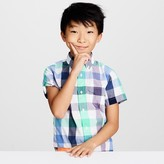 J.Crew Kids' short-sleeve Secret Wash shirt in exploded gingham