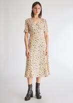 Farrow Women's Sophia Floral Dress in Cream, Size Small