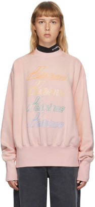 we11done Pink Iridescent Logo Sweatshirt