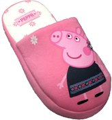 Peppa Pig Girls / Kids Cute and Cream Youth Non Skid Hard Sole Slippers (10-11 US / 4-5 Years, )