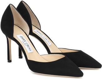 Jimmy Choo Esther 85 suede pumps