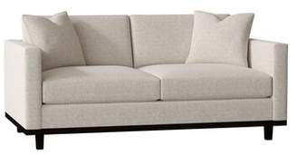 "Latitude Run Kaisa 72"" Square Arm Sofa Latitude Run Body Fabric: Ralph Pebble, Throw Pillow Fabric: Texas Canyon"