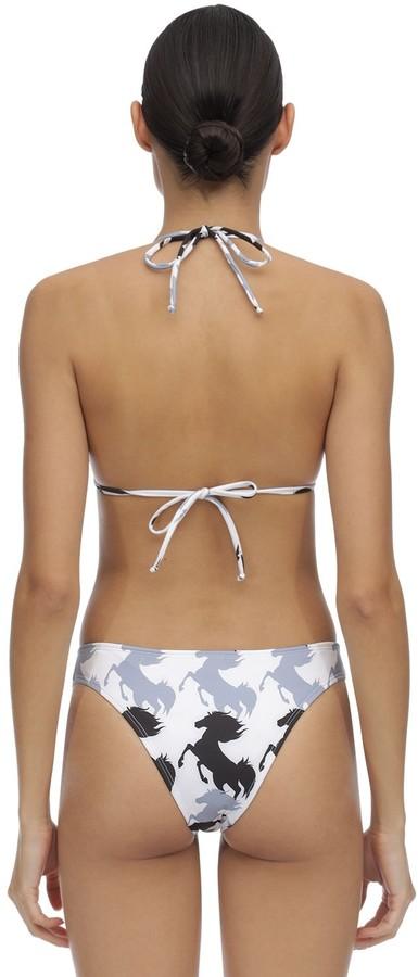 Thumbnail for your product : VERDELIMON Moa Horses Lycra Triangle Bikini Top