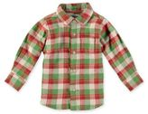 Rockin' Baby The Little Outdoors Charlie Shirt in Green/Red
