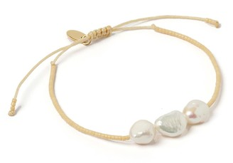 Arms Of Eve Serena Gold & Pearl Bracelet - Cream