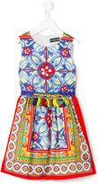 Paesaggino - Majolica print dress - kids - Polyester - 4 yrs