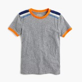 J.Crew Boys' shoulder-stripe T-shirt in the softest jersey