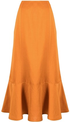 Jil Sander Ruffle-Hem Mid-Length Skirt