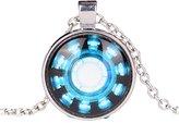 Daily Home Handmade Man Necklace, Arc Reactor, Tony Stark Armor Suit Jewelry