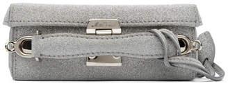 Mark Cross Silver Mini Grace Box Bag
