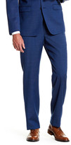 """Calvin Klein Mabry Navy Woven Flat Front Wool Suit Separates Trouser - 30-34\"""" Inseam"""