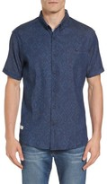 7 Diamonds Men's Marquee Moon Print Woven Shirt