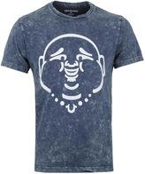 True Religion Buddha Navy Acid Wash T-shirt