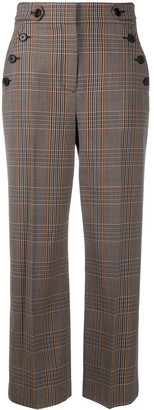 Veronica Beard Cropped Plaid Trousers