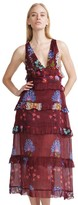 Cynthia Rowley Tiered Ruffle Maxi Dress