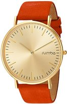 RumbaTime Women's 'SoHo Suede Sunset' Quartz Metal and Suede Casual Watch, Color:Orange (Model: 26085)