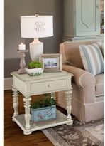 Paula Deen Home Rectangular End Table in Linen Finish