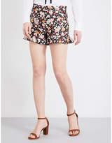 RED Valentino Floral-print high-rise jacquard shorts