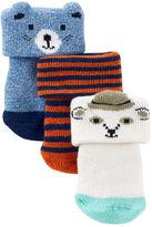 Osh Kosh 3-Pack Animal Terry Socks