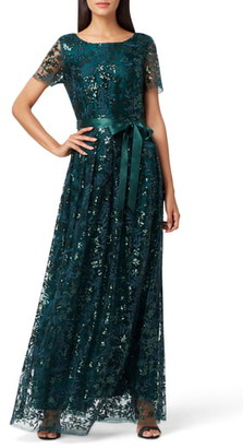 Tahari Embellished Lace Gown