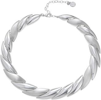 Dana Buchman Silver Tone Scale Collar Necklace