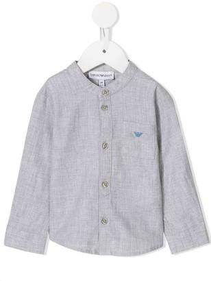 Emporio Armani Kids Mandarin collar shirt