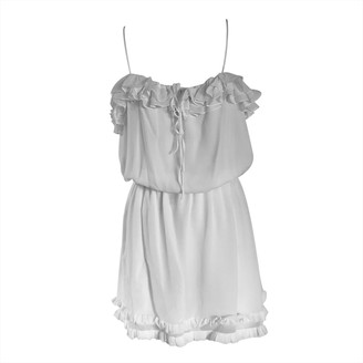 Onelady Silk Short Dress Offwhite Marcella