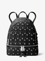 Michael Kors Rhea Medium Grommeted Leather Backpack