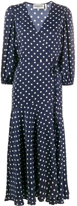 Essentiel Antwerp Polka-Dot Midi Dress