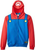 Nintendo Mario Brothers Bill Men's Red Zip-Up Costume Hoodie