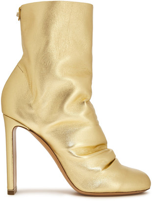 Nicholas Kirkwood D'arcy Gathered Metallic Leather Ankle Boots