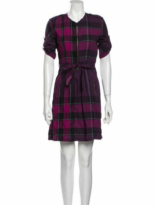 Burberry Shirt Dress Mini Dress Purple