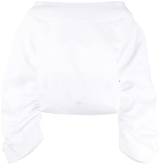 DSQUARED2 oversized smocked sweatshirt