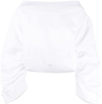 DSQUARED2 Oversized Smocked Sweatshirt