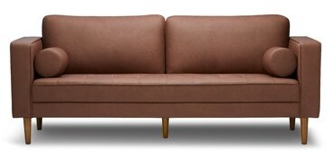 """Corrigan Studio Rooney 78"""" Faux Leather Square Arm Sofa"""