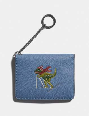 Coach Key Ring Card Case With Rexy