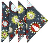 Christmas Napkins 18 Inch Cloth Napkins Linen Napkins Table Linens Cotton Set of 6 Snowflake
