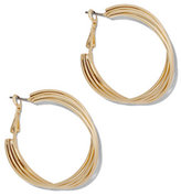 New York & Co. Four-Row Twist Hoop Earring