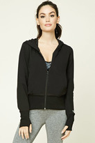 Forever 21 FOREVER 21+ Active Zip-Up Hooded Jacket