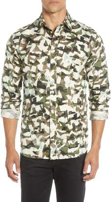 Selected Bryson Slim Fit Camo Button-Up Shirt