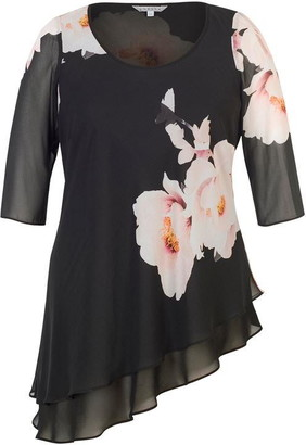 Chesca Floral Bloom Placement Print Tunic