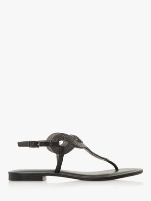 Dune Lettie Embellished Toe Post Sandals