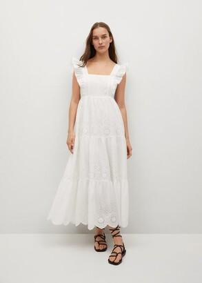 MANGO Broderie anglaise cotton dress