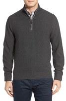 David Donahue Men's Merino Wool Quarter Zip Sweater