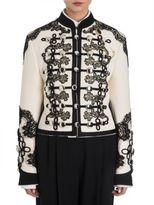 Dolce & Gabbana Button & Lace Detail Military Jacket