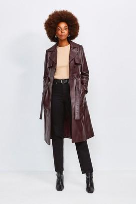Karen Millen Leather Trench Coat