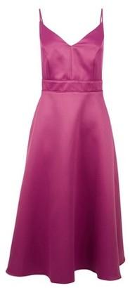 Dorothy Perkins Womens **Luxe Magenta Satin Cami Midi Dress