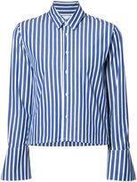 Miharayasuhiro cropped striped shirt