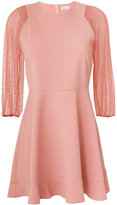 RED Valentino transparent balloon sleeve mini dress